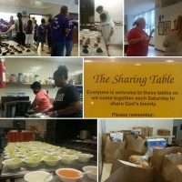 Sharing Table Collage